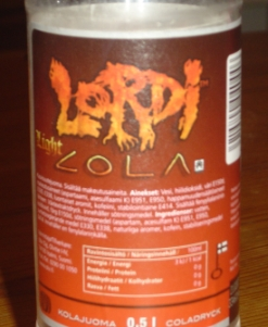 lordi cola bottle label