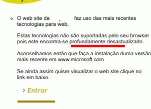 macarico browser profundamente desactualizado